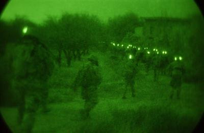 view thru night vision goggles